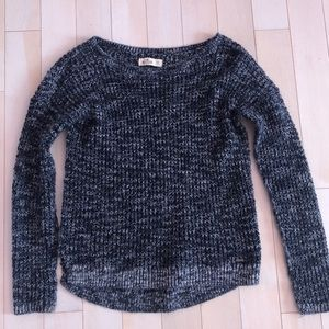 HOLLISTER KNITTED SWEATER BLUE